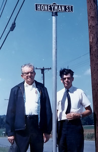 Dad and Uncle Ben on Honeyman Street in New Jersey  copy
