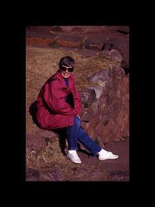 Chelle at Sacsahuaman - Peru 1994