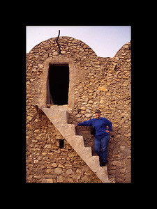 Chelle on Staircase at Ksar - Tunisia 1994