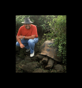 Jim and Old Friend - Galapagos 1992