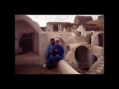 Jim and Chelle at Ksar - Tunisia 1994
