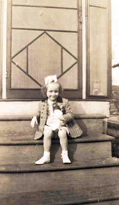 Barb on Steps about 1944
