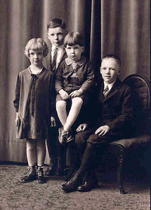5  Eldon, Clarence, Walter, Harriet - Kids Portrait