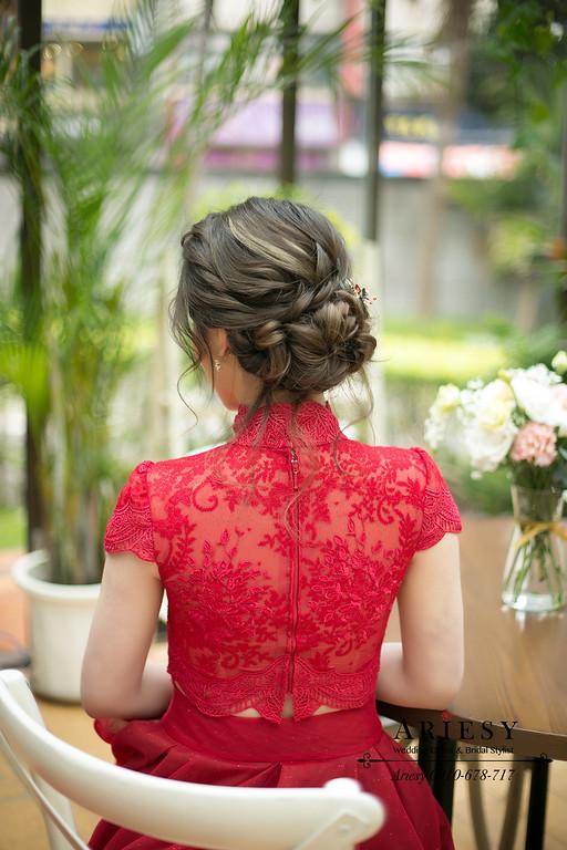 新娘秘書,新秘推薦,ariesy,文定造型,訂婚髮型,美式文定造型