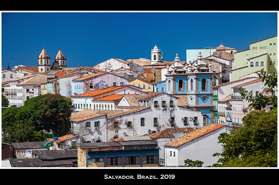 "First stop was Salvador, the fourth largest city in Brazil with a population of 2.9 million. Its old colonial heart is called the Pelourinho (Pel-ar-in-yo in Portugese) which means ""whipping post"" as the town was one of the first in the New World to import slaves from Africa."