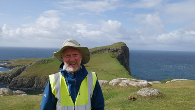 Brian Burnie at Neist Point
