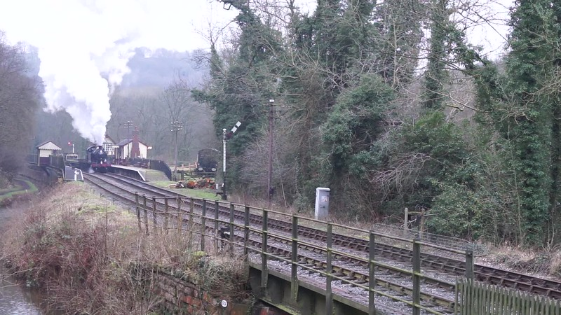 Departing from Consall forge station towards the Black Lion pub