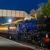 LED lit night shoot on Toddington station