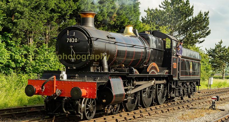 Ex Great Western railway 4-6-0 mixed traffic loco 7820 Dinmore Manor