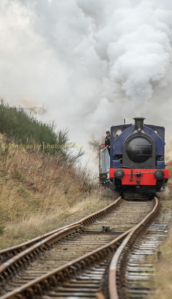 Empress approaching furnace siiding junction with a train of empties from Pontypool