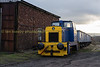 Hudwell Clarke 0-4-0 dielel shunter outside the furnace sidings shed