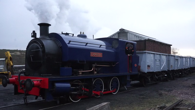 A short video clip pf Wmpress with those troublesome trucks finding her feet at a slippery furnace sidings