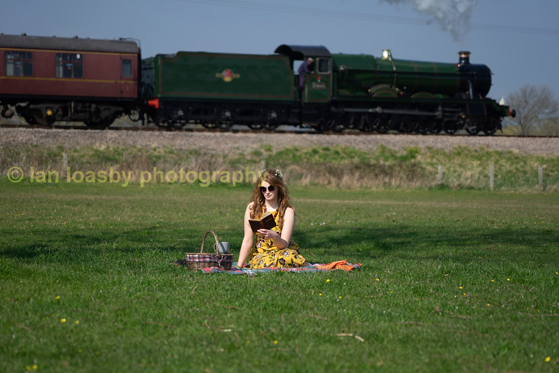 the girl in the field was not disturbed by the diverted Bristol to Birmingham express ( Didbrook)