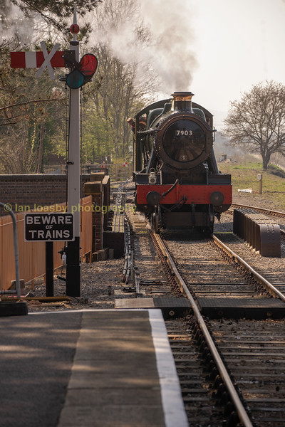 Easing up to our train at Broadway