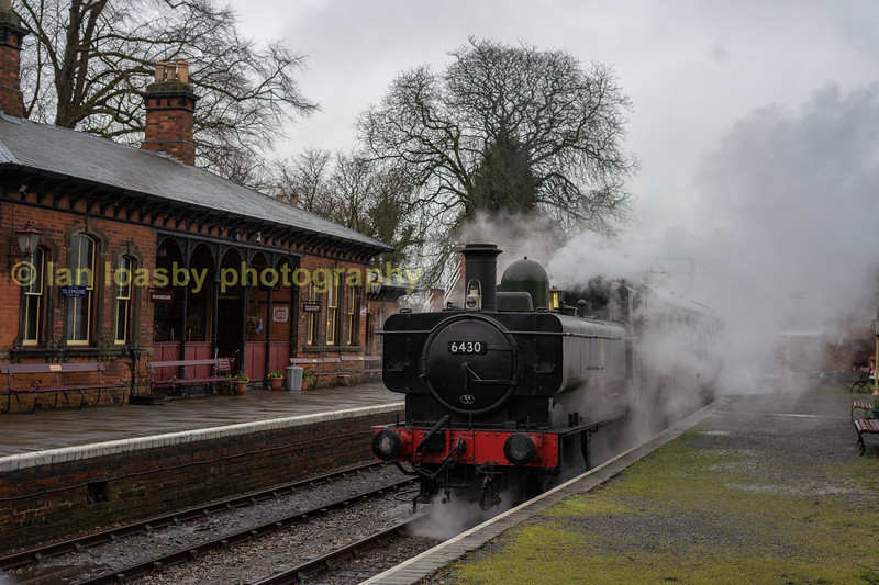 Our train in platform 2 of shacklestone station prior to departure
