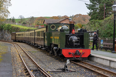 Arrival at the end of the line;  Devils Bridge