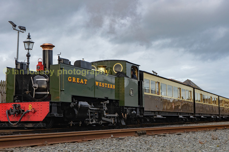 No 8 awaits departure from Aberystwyth