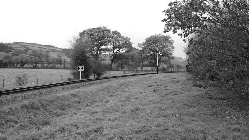 Approaching Capel Bangor station