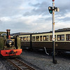No 8 shunts around in Aberrystwth yard