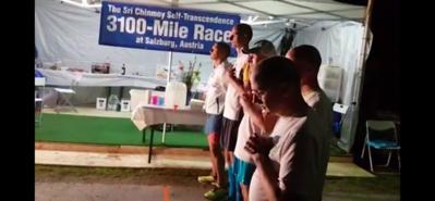 Start of 2020 Sri Chinmoy Self-Transcendence 3100 Mile Race, Salzburg, Austria