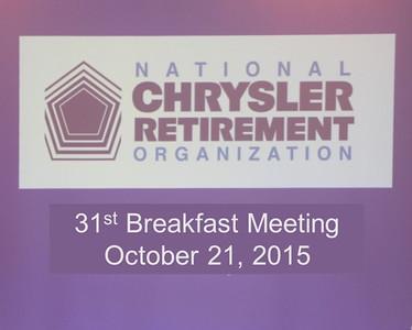 31st Breakfast Meeting October 21, 2015