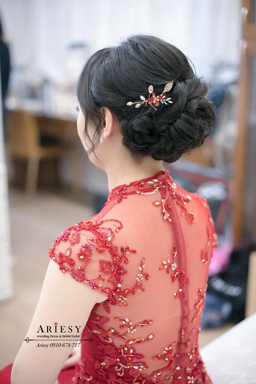 黑髮新娘造型,愛瑞思,ariesy,台北新秘,新娘秘書,新秘推薦
