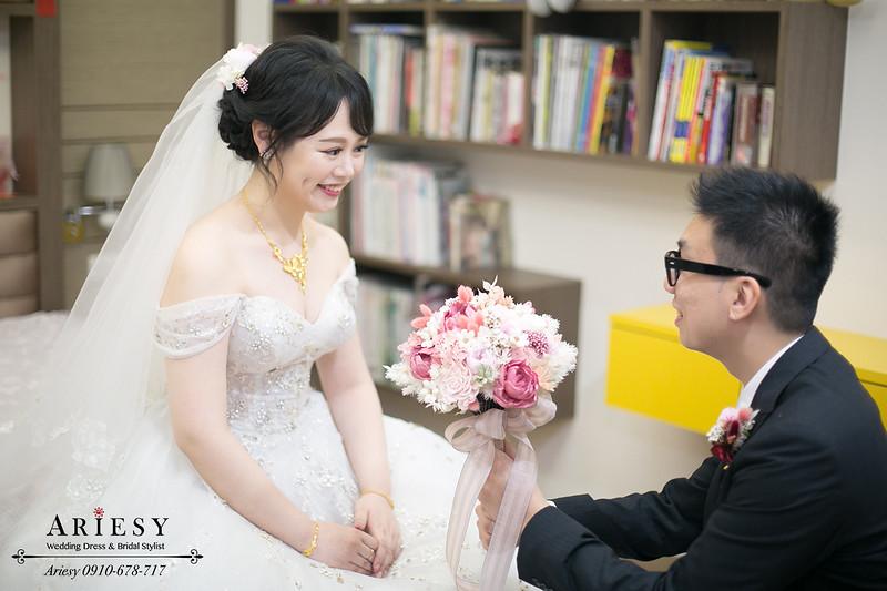 新娘秘書,新秘推薦,白紗迎娶造型,黑髮新娘造型,台北新秘愛瑞思,永生花捧花