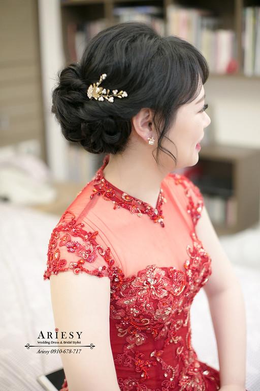 新娘秘書,新秘推薦,文定新娘髮型,黑髮新娘造型,台北新秘愛瑞思