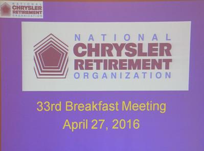 33rd Breakfast Meeting April 27, 2016