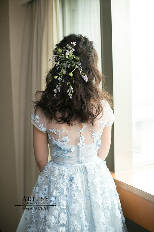 日系新娘髮型,鮮花新娘造型,ARIESY,愛瑞思,台北新秘推薦,新娘秘書