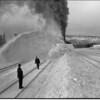 Train Snow Plow Whitefish Train Yard