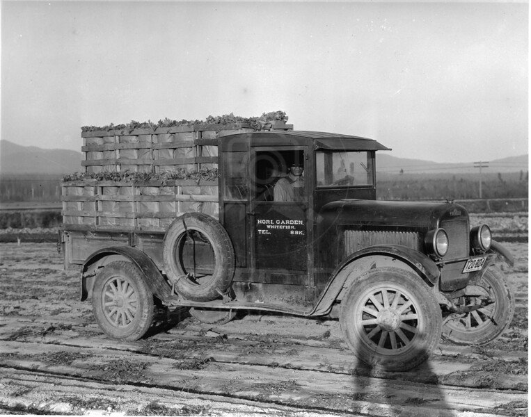 """""""Swede"""" Hori's delivory truck - 1915<br /> RE Marble Photo<br /> MA-165"""