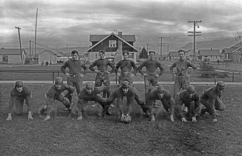 Whitefish High School Football Team 1920's<br /> RE Marble Photo<br /> MA-0214