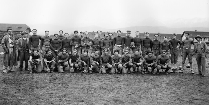 WHS Football Team Late 1920's<br /> LL Muldown Asst Coach E A Hinderman Coach<br /> RE Marble Photo<br /> MA-0214G