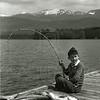 Catching fish on Whitefish Lake