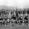 """WHS Football Team late 20's<br /> left Asst Coach Lloyd L Muldown   <br /> Right Coach EA Hinderman  Second from left top row. Lowell """"Lokie"""" McKeen WHS Hall of fame, and Star player at Hamlin University St. Paul Mn.  He was an all around great athelete and my uncle.  One of my other uncles Erving McKeen ran the mile for WHS in record breaking time wearing his farm boots.  <br /> RE Marble Photo<br /> MA-0214I"""