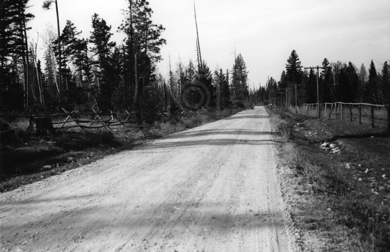 Whitefish Stage Road Late 1920's<br /> RE Marble Photo<br /> MA-0224-1