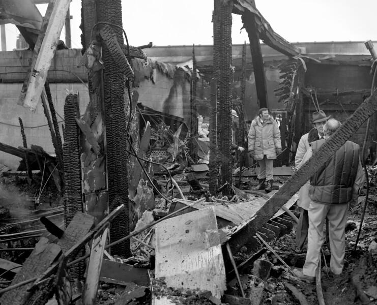 Whitefish Gymnasium Fire 1977