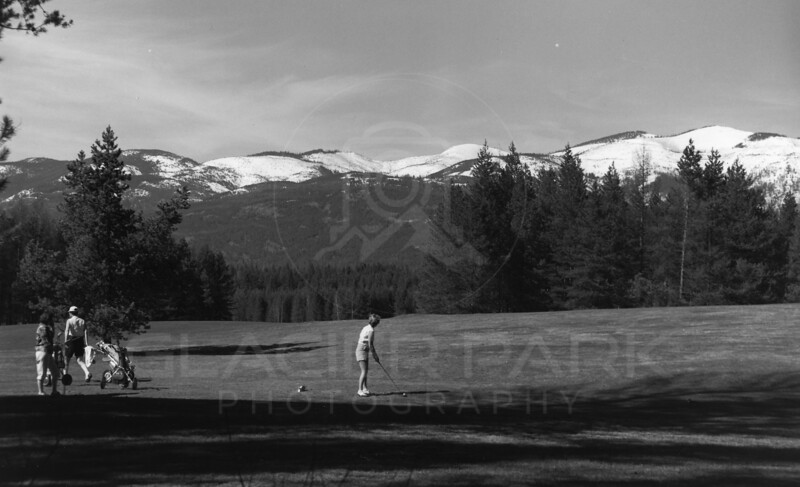 1959 Golfing on Whitefish Lake Golf Course