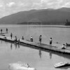 Whitefish City Beach 1930's<br /> RE Marble Photo<br /> MA-0197