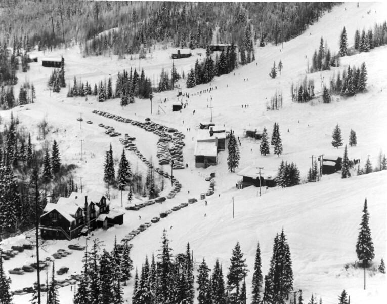 When Parking was a breeze, Big Mountain 1950's