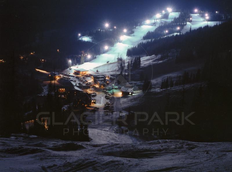 Night Skiing on Big Mountain