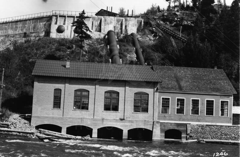 Ferde Greene Photo<br /> 8/12/1917 4PM Bigfork Power House, Montana<br /> 1/25 f16<br /> 1246