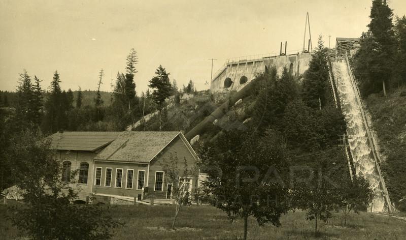 Bigfork Dam and Power House -circa 1920