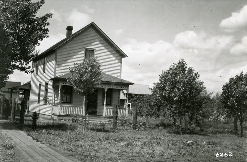 Ferde Greene Photo<br /> 6/26/1918 B JA S Greene, Farzios house still standing in 2007, Columbia Falls, Montana<br /> 6262
