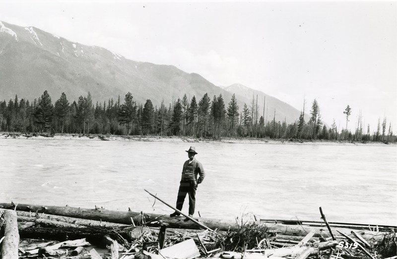 Ferde Greene Photo<br /> 6/17/1920, Shorty Orvis, lived across BNSF over pass at Columbia Falls, Montana<br /> 5319