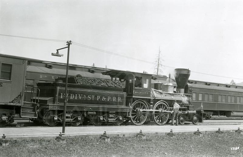 Ferde Greene Photo<br /> 6/3/1924, WM Crooks No.1 Train, Columbia Falls, Montana<br /> 1385