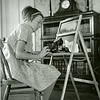 Ferde Greene Photo, 1/1/1937, Ruth Ann at Typing Desk