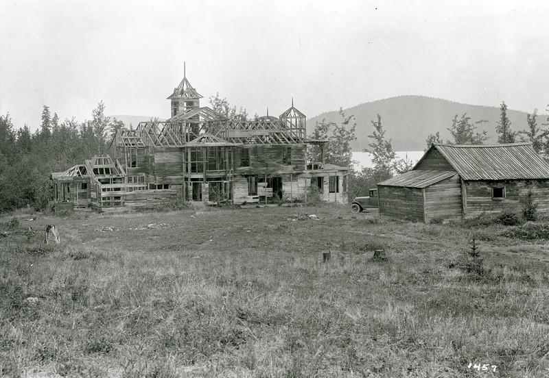 Ferde Greene Photo<br /> 6/3/1929 3PM Crazy Man's Castle, Bitteroot Lake<br /> f22 1/2<br /> 1457