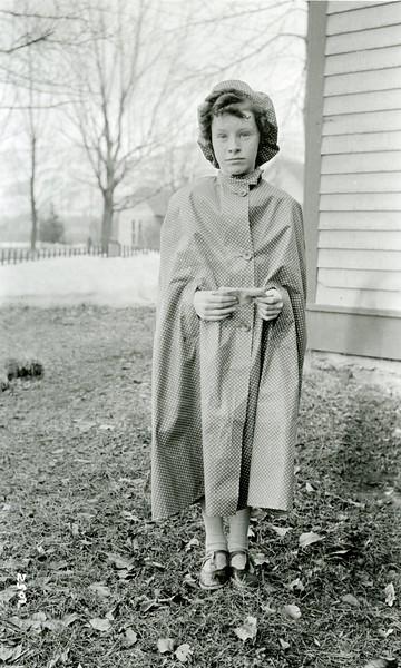 Ferde Greene Photo, 3/12/1936, Ruth Ann Greene Rain Cape BDay present